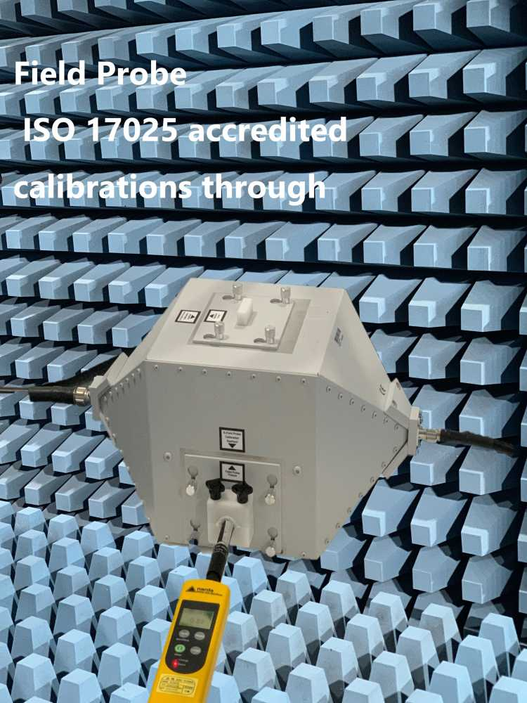 Field Probe  ISO 17025 accredited official calibrations thro80M-6GHz